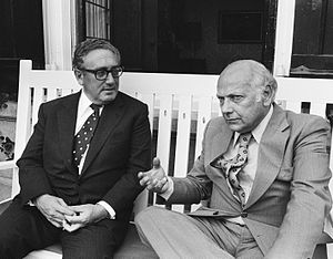 Joop den Uyl - Joop den Uyl with Henry Kissinger in 1976.