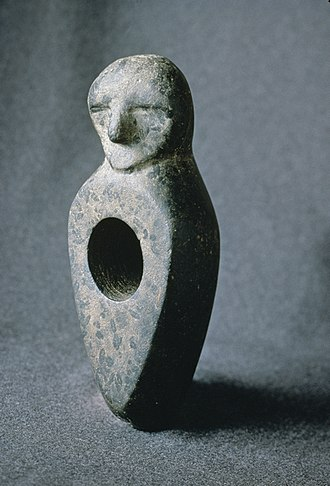 History of Finland - Stone Age stone axe engraved with human face found from Kiuruvesi.