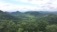 Forested knobs viewed from the Lilly Mountain Nature Preserve in southwestern Estill County