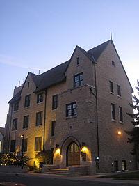 Knowles-Douglas Student Union building, dusk.jpg