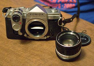 Konica Autoreflex - Konica Auto-Reflex P w/lens and light meter