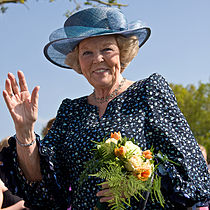 Queen Beatrix during a visit in Vries (6 May 2008)