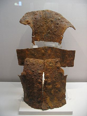 Iron Age - Silla chest and neck armour from National Museum of Korea