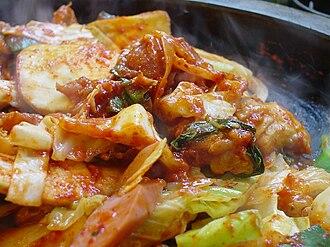 Dak-galbi - Image: Korean cuisine Dakgalbi 01