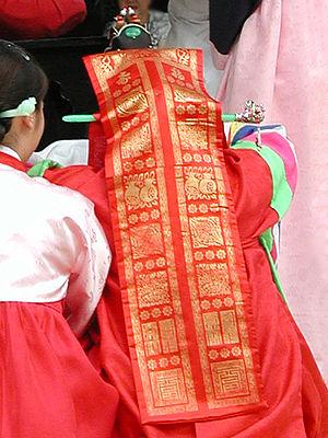 Daenggi - Image: Korean ribbon Doturak daenggi 01