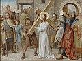 Kruisweg Sint-Clemenskerk, Nuenen, statie 02, Jesus neemt het zware kruis op zich.jpg