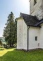 Krumpendorf Pirk Filialkirche hl. Ulrich Sakristeianbau mit Wendeltreppe 07052018 3156.jpg