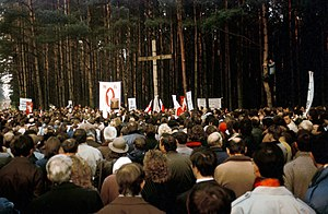 Politics of Belarus - A demonstration by the Belarusian Popular Front in Kurapaty, 1989