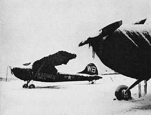 Cessna O-1 Bird Dog - USMC OE-1s of VMO-6 during the winter of 1951/52 in Korea
