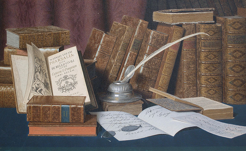 File:L. Block - The Bibliophile's Desk.jpg