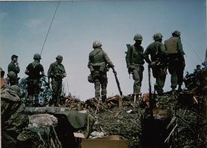 Battle of Signal Hill Vietnam - LRRPs after securing Signal Hill