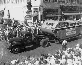 FMC Corporation - LVT-1 exhibited by manufacturer (FMC) in 1941 parade, Lakeland, FL