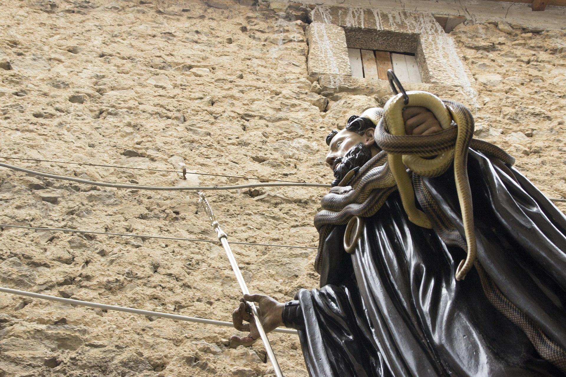 La statuta di S.Domenico in processione a Cocullo.jpg