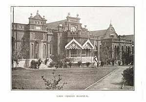 Bowring & Lady Curzon Hospitals - Image: Lady Curzon Hospital, Bangalore by CH Doveton (1900)