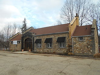 Lake Hopatcong station - December 2014 photo of the former station depot now used by the Lake Hopatcong Foundation.