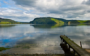 Lake Rotoehu, Bay of Plenty, New Zealand