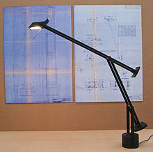 Tizio - Wikipedia:A Tizio desk lamp,Lighting