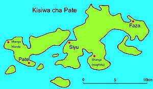 Pate Island - Map of Pate island