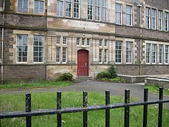 Lanark Grammar School - Images of the previous Albany Drive building, since demolished.
