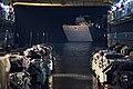 Landing craft utility enters the well deck of USS Ashland (LSD 48). (33341576965).jpg
