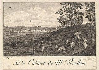 Landscape with Cart descending a Hill