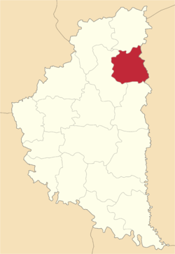Location of Laņivcu rajons