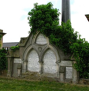 Charles Lanyon - Lanyon memorial in Knockbreda Cemetery.