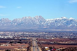 View of Las Cruces with the Organ Mountains to the east