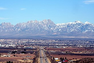 Las Cruces, New Mexico - View of Las Cruces with the Organ Mountains to the east