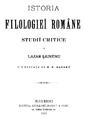 Lazar Saineanu - prima pagina - Istoria Filologiei Romane.png