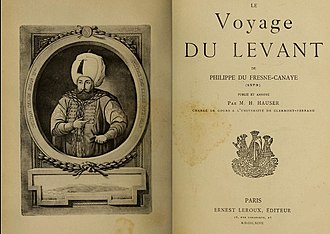Henri Hauser - Title page of Hauser's extensively annotated translation of Voyage du Levant which shed new light on the life of Philippe du Fresne-Canaye