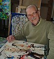 Le peintre Pierre Wemaëre dans son atelier en 2007.jpg