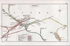 Calder Valley line - Railway lines in Leeds in 1913