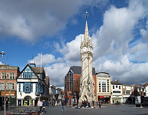 Leicester City Centre - Image: Leicester Clock Tower wide view