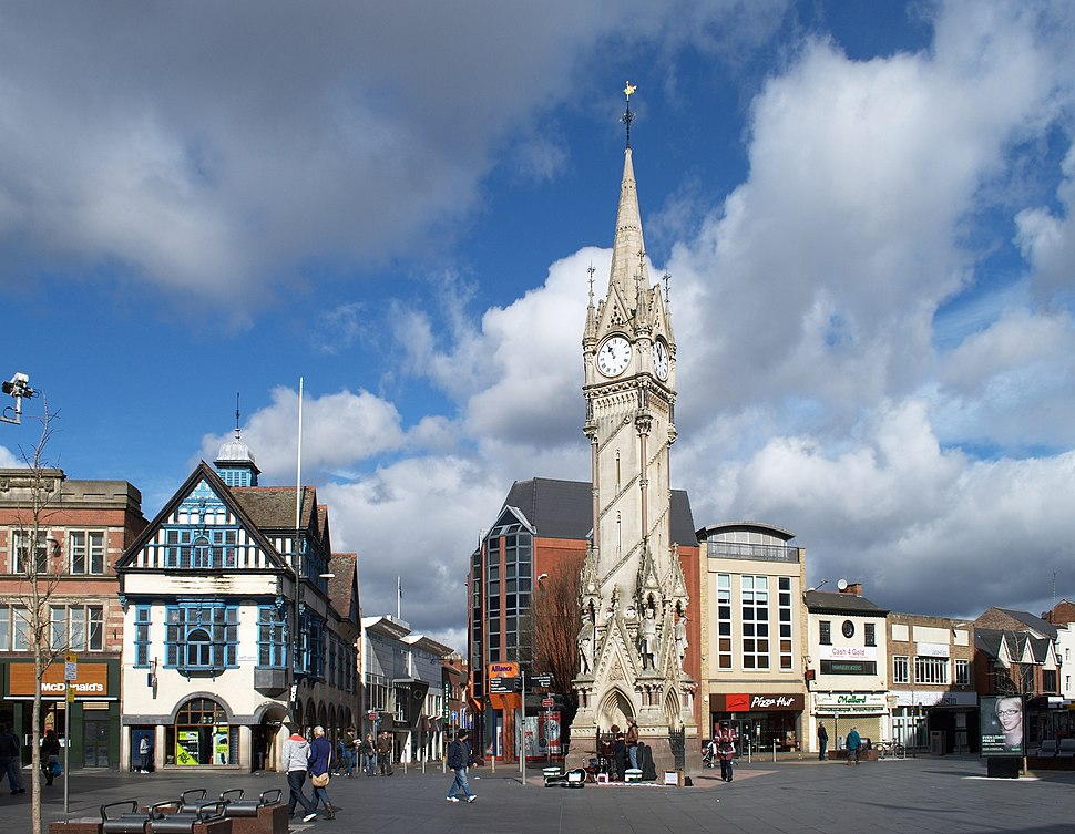 Leicester Clock Tower wide view
