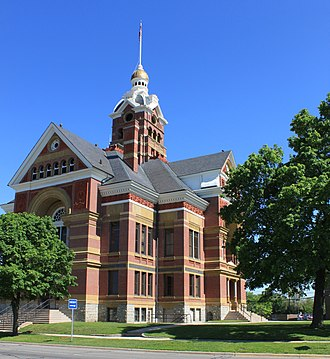 Adrian, Michigan - Lenawee County Courthouse in Adrian