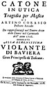 Leonardo Vinci - Catone in Utica - titlepage of the libretto - Rome 1728.jpg