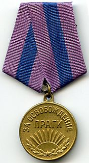 "Medal ""For the Liberation of Prague"" military decoration of the Soviet Union"