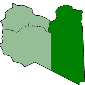 Cyrenaica Emirate - Cyrenaica within Libya