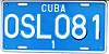 License plate of Cuba 2002 state owned Holguín OSL 081.jpg