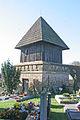 Licoměřice - Kostel svaté Kateřiny zvonice.JPG
