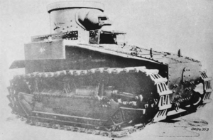 T1 Light Tank - The T1E2, here equipped with the old M1916 gun.