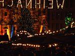 Light festival Marburg im November mit buntem Rathaus und Weihnachtsbeleuchtung 2016-11-25.jpg