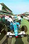 Ligier JS39B in the pitlane at the 1994 British Grand Prix (32418603631).jpg