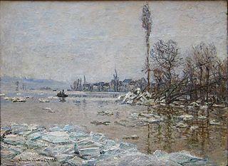 La Débâcle à Vétheuil, avec vue sur Lavacourt
