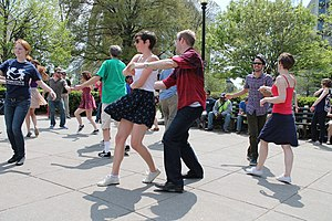 Lindy Hop - Lindy hop dancers at DuPont Circle, Washington DC on a Saturday afternoon