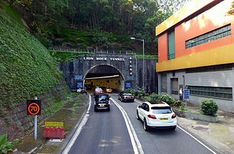 Lion Rock Tunnel - Entrance of the Lion Rock Tunnel in Sha Tin, Hong Kong
