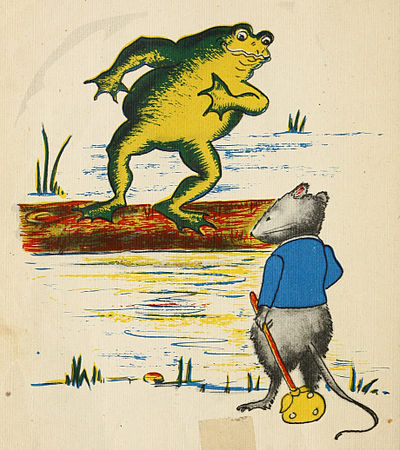 Grandfather Frog invites the mouse