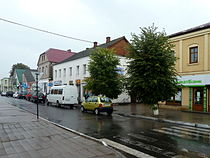 Liuboml Volynska-central square buildings-2.jpg