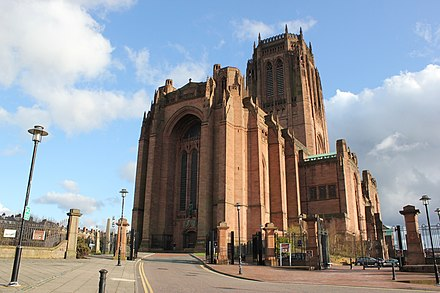 Liverpool Cathedral is regarded as one of the greatest buildings of the twentieth century and is one of the largest church buildings in the world Liverpool Kathedrale 3.JPG